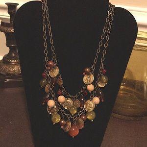 EUC~ Chico's Double Chain Necklace